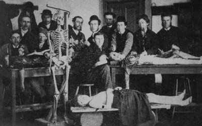 sala disección · clase de anatomía